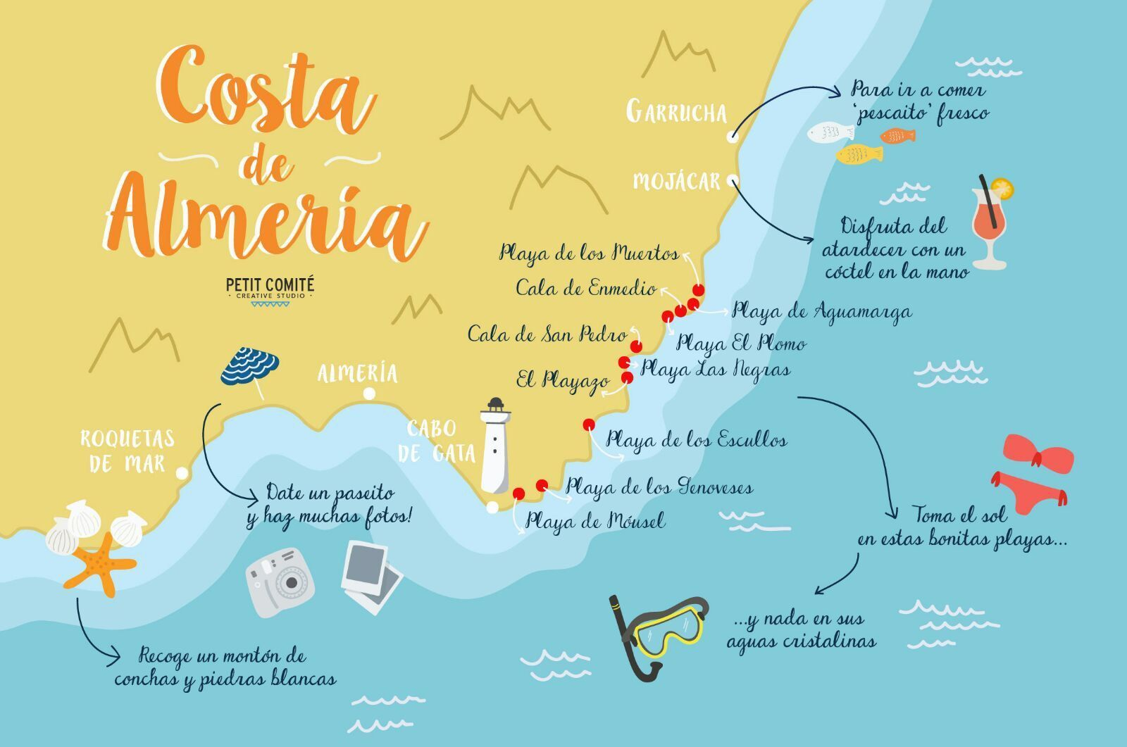 Detailed Map Of East Coast Of Spain.Spain Savvy Destination Spotlight Mojacar Almeria Spainsavvy